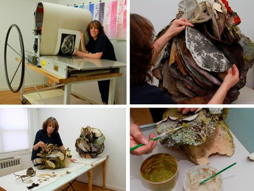 Susan Rostow working in studio.