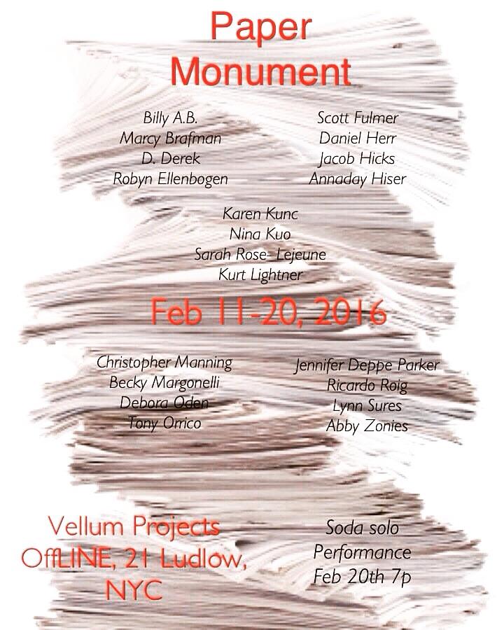 Paper monument