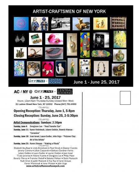 ACNY Card Beverly Marcus