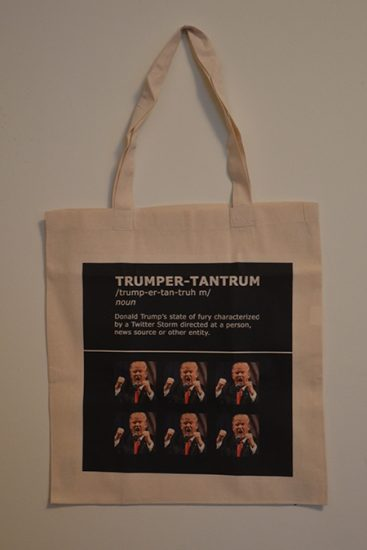 Trumper tantrum Protest Bag Ann Reichlin
